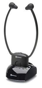 amplicomms Kopfhörer TV 200 bis zu 112dB & 10m, Umgebungsmikrofon, drahtlos