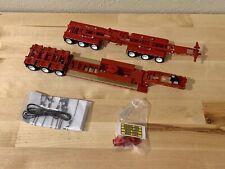 Dcp 1/64  Heavy Haul Lowboy With Hydra Steer Semi Trailer Farm Toy