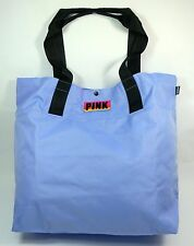 Victoria's Secret NEW PINK Polyester Canvas Gym Sports Beach Tote Bag Pale Blue