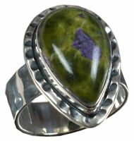 925 Solid Sterling Silver Ring Natural Stacktite Gemstone US Size 6 7 8 9 R3151