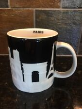 New Starbucks City Mug Paris Relief Collection Black & White New SKU Code 16 oz