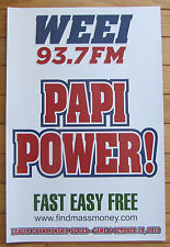 """2013 ALCS WEEI K Card Poster """"Papi Power!"""" Game 6 Boston Red Sox Clinching Game"""
