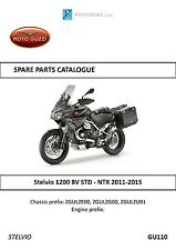 Moto Guzzi parts manual book 2011, 2012, 2013 & 2014 Stelvio 1200 8V STD - NTX