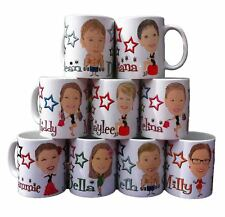 Fun Personalised CARTOON CARICATURE MUG with YOUR NAME using YOUR PHOTO