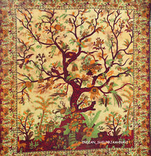 Indian Tree of Life Wall Hanging Single Tapestries Bedspread Throw Ethnic Decor