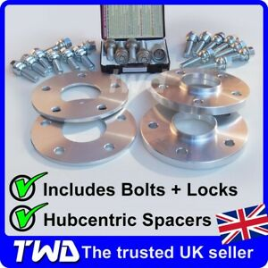 7MM & 15MM WHEEL SPACER KIT - PORSCHE 911 (996 997 991) BOLTS LOCKS ALLOYS [KT1]