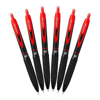 Uni-ball Signo 307 Retractable Gel Ink Pens, Medium Point, 0.7mm, Red Ink, 6PK