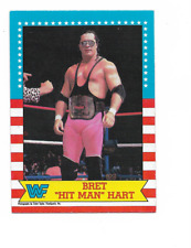 "1987 O-Pee-Chee WWF #1 Brett ""Hit Man"" Hart RC Rookie"