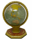 "GW Newman Astrological Terrestrial World Metal Globe Tin Stand Antique 10"" Desk"