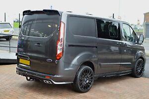 Ford Transit Custom V2 PLASTIC Splitter Rear Add On