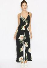 TOPSHOP  floral print culotte jumpsuit size 14 12 tie open back wedding holiday
