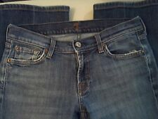 Women's 7 For All Mankind Distressed Jeans Fit Slim Size Retro Boot SZ 28 x 28