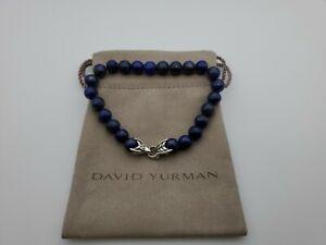 David Yurman Men's Spiritual Bead Bracelet with Lapis Lazuli 8mm, length 8.5