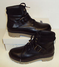 Topshop New Ladies Black Chunky Leather Hiker Boots RRP £75 Sizes 3 4 5 6 7 8