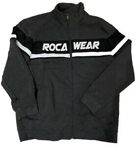 RocaWear Grau Trainingsanzug, Herren & Damen Urban Hip Hop Joggen Satz Design