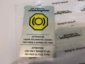Lamborghini warning original sticker