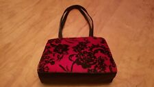 MITZI BAKER Vintage Red / Black Printed Calf Hair Shoulder Bag