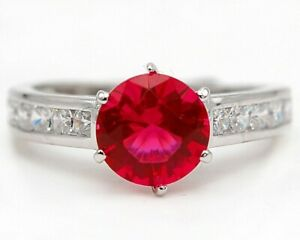 3CT Ruby & Topaz 925 Solid Sterling Silver Ring Jewelry Sz 9 SD2
