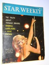 1960 Star Weekly September 24 Marilyn Monroe as a Showgirl Stripper on the cover