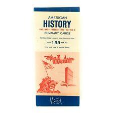 Vis-Ed American History Summary Cards Civil War Present Time Set Num 2 Vintage