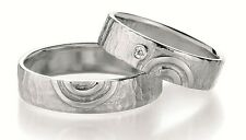 Paar Eheringe Verlobungsringe Partnerringe in 925 Sterlingsilber mit Brillant