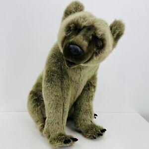 Hansa Brown Bear 2004 Handmade Life-like Plush Bear
