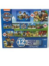 Nickelodeon Paw Patrol 12-Puzzle Pack  - Total of 560 Pieces