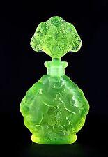 ANGELS FROM HEAVEN - Art Deco - Signed Perfume Bottle - DESNÁ, uranium Colour