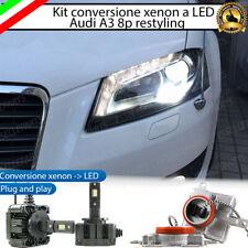 KIT LED D3S CONVERSIONE BI XENON BIXENO A LED AUDI A3 8P RESTYLING 12000 LUMEN