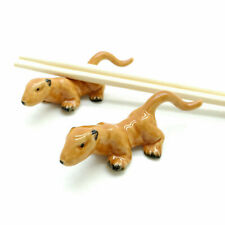 2 Chopstick Holder Otter Ceramic Figurine Animal Statue - Cs002