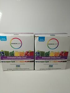 Rainbow Light Prenatal Daily Duo 2 Packs = 60 Tablets + 60 Soft Gels