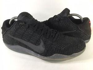 Nike Kobe 11 Elite Black Space Red Mens Size 10.5 Rare 822675-001 Basketball