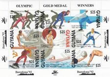 (50030) Guyana MNH Olympic Gold Medal Winners Barcelona 1992 minisheet u/m mint