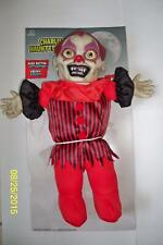 HAUNTED EVIL SCARY DEMENTED CLOWN TALKING DOLL PROP DECORATION MR122718