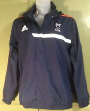 "Adidas L 46""C Mens Blue Windbreaker Jacket Hoody New Final Lisbon 2014 Pockets"