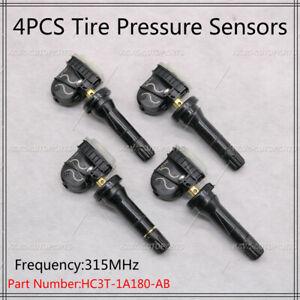 New HC3T-1A180-AB 4PCS For Ford TPMS Tire Pressure Sensor HC3T-1A180-AB 315MHz