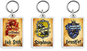 Personalised Harry Potter House Keyring - Add any name *Great Gift*