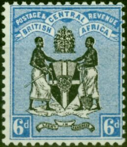 B.C.A. Nyasaland 1895 6d Black & Blue SG24 Fine Mtd Mint