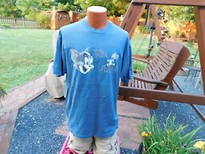 Vintage TOM & JERRY Cartoon Tee Shirt T XL MADE IN USA 100% Cotton