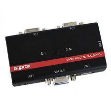 Data switch KVM 2x1 Approx Usb/vga
