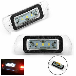 For Mercedes-Benz X164 SUV Number License Plate Lamp LED Lights Assembly 2PCS