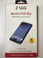 AUTHENTIC ZAGG InvisibleShield HD Dry Samsung Galaxy S7 edge Full screen coverag