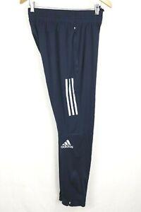 adidas Mens sz Medium Navy Adizero Climalite Energy Running Pants Zip Tapered
