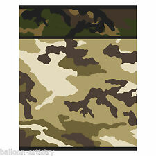 8 Green Brown Army Military Camo Camouflage Party Plastic Favour Loot Bags