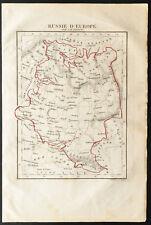 1843 - Russie d'Europe - Carte ancienne - Perrot & Tardieu - Antique Map