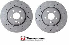 Mercedes Set Of Two Disc Brake Rotors Front Zimmerman 400367620 / 0004211812