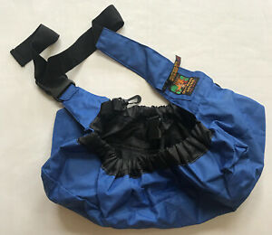 Outward Hound Pooch Pouch Adjustable Sling Small Dog Carrier in Blue Travel Bag