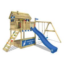 WICKEY Smart Seaside Spielturm Garten Stelzenhaus Doppelschaukel XXL-Sandkasten