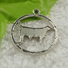 free ship 48 pcs tibet silver dog charms 34x30x2mm #4430
