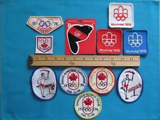 11 VINTAGE RARE 1976 CANADA MONTREAL OLYMPICS TORCH RUN PATCH CREST OLYMPIQUES